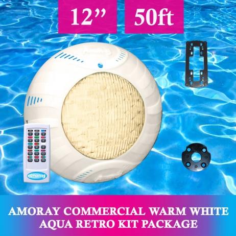 Amoray 12V Nicheless LED Underwater Light