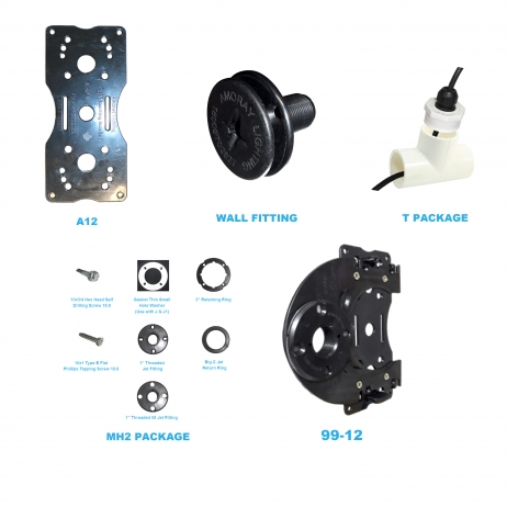 Amoray 8in New Installation Bracket Package