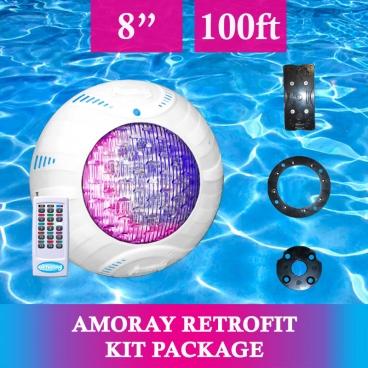 Amoray 8in Retrofit Light Kit (13 Color Show) 100ft