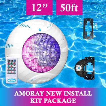 Amoray 12in New Install Light Kit (13 Color Show ) 50ft