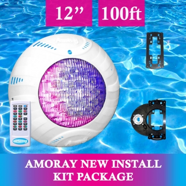 Amoray 12in New Install Light Kit (13 Color Show ) 100ft