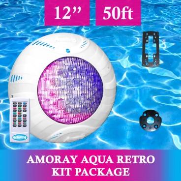Amoray 12in Aqua Retro Light Kit (13 Color Show) 50ft